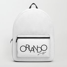 Orlando - Compressed City Beautiful - Word Art Backpack