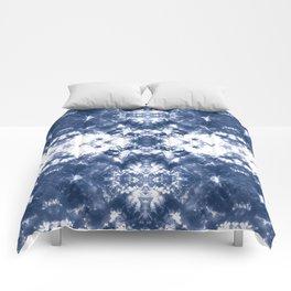 Shibori Tie Dye 4 Indigo Blue Comforters