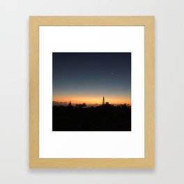 Moon and Stars | Sunrise on Kauai, Hi Framed Art Print