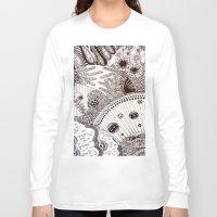 zentangle Long Sleeve T-shirts featuring Zentangle by Marisa Toussaint