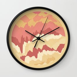 TOPOGRAPHY 009 Wall Clock