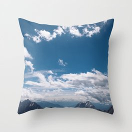 A beautiful day in the mountains Throw Pillow