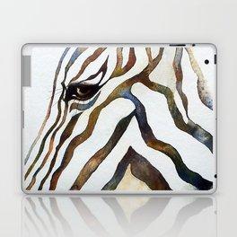 Stripey Zebra Portrait Laptop & iPad Skin
