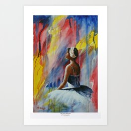 Swan Ballerina Art Print