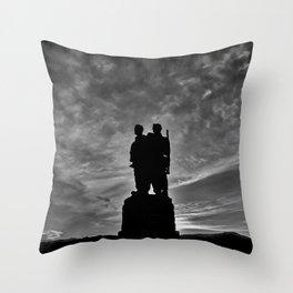 The Commando Memorial sunset Throw Pillow