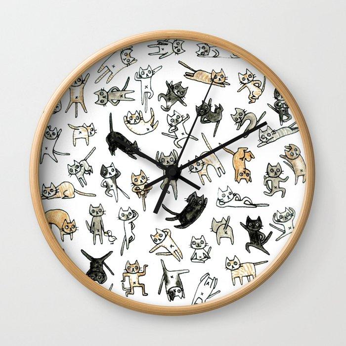 Flexible Cats Wall Clock