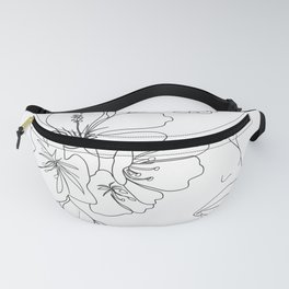 Minimal Line Art Woman Face II Fanny Pack