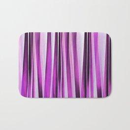 Lavender, Iris and Grape Stripy Pattern Bath Mat