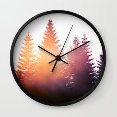 Morning Glory Wall Clock