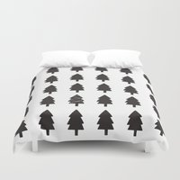christmas tree Duvet Covers featuring Christmas Tree by uzualsunday