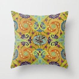 World Quilt - Panel #1 Throw Pillow