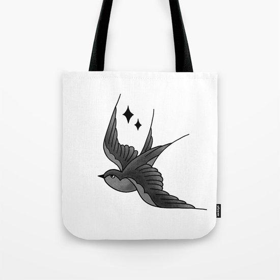 Swallow Flash - mono Tote Bag