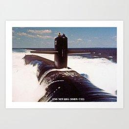 USS NEVADA (SSBN-733) Art Print