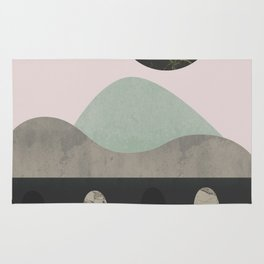 Stones and moon Rug