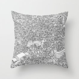 Outbreak! Throw Pillow
