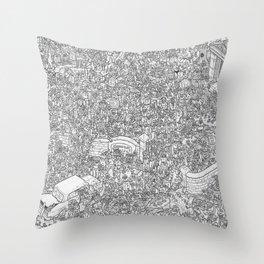 Outbreak! Throw Pillow