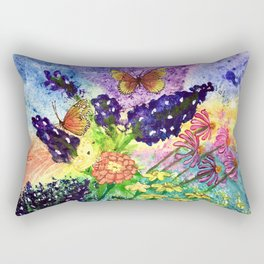 Bluebonnet Bouquet Rectangular Pillow