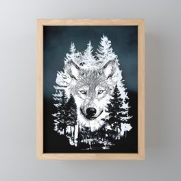 Forest Wolf Art Framed Mini Art Print