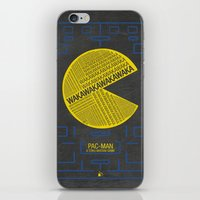 pac man iPhone & iPod Skins featuring Pac-Man Typography by Kody Christian
