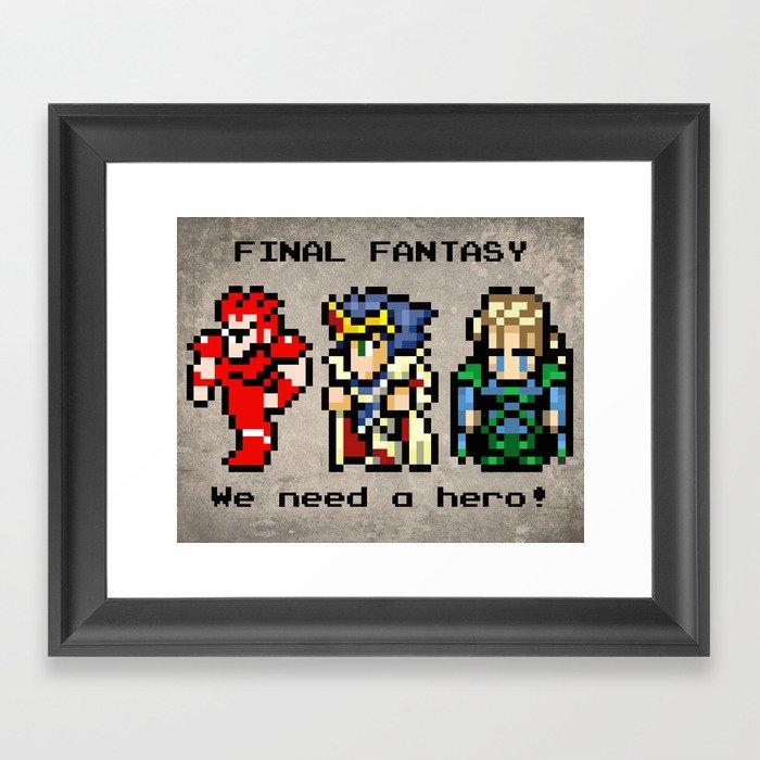 We Need A Hero Framed Art Print