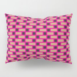 Brick (Pink, Brown, and Black) Pillow Sham