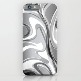 Liquify in Gray, Black and White iPhone Case