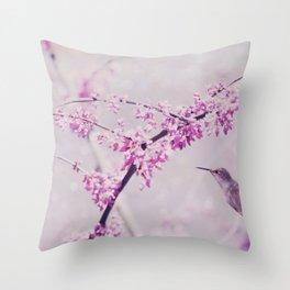 Pink Dreams    (Hummingbird) Throw Pillow