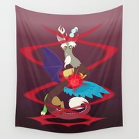 mlp Wall Tapestries featuring Magic Circle: Discord by Mayiamaru