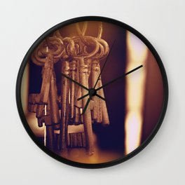 Hanging Keys+Bokeh Wall Clock