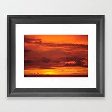 Soak up the sun. Framed Art Print
