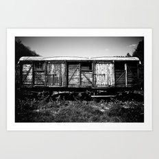 Here my train a comin' Art Print