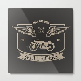 Skull Riders Costoms Metal Print