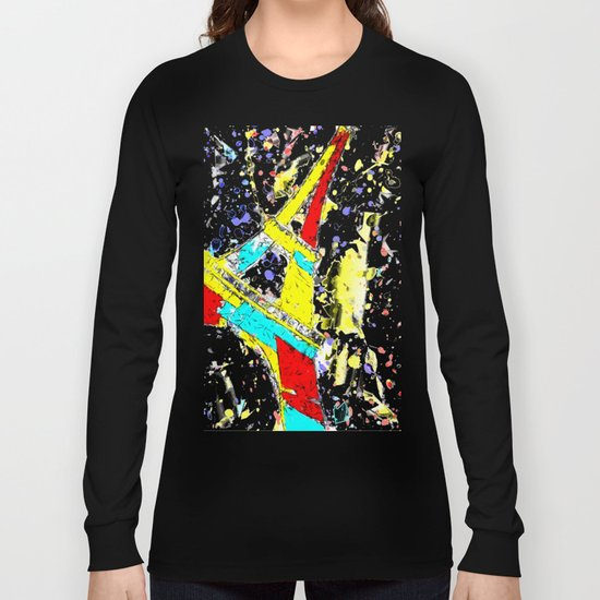 Eiffel Tower Abstract Long Sleeve T-shirt