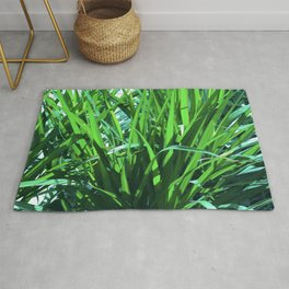 Exotic Long Blades of Grass Art Photo Rug