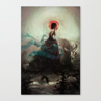 witchcraft Canvas Prints featuring Witchcraft by Camila Vielmond