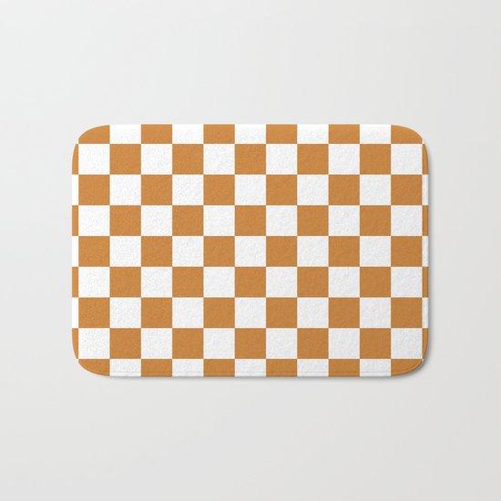 Checker (Bronze/White) Bath Mat
