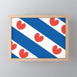 Flag of Friesland Framed Mini Art Print