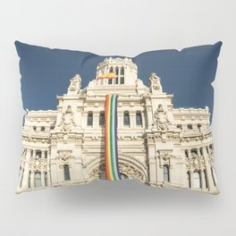 Building With LGBT Pride Flag Pillow Sham