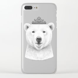 Queen bear Clear iPhone Case