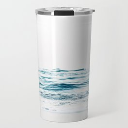 Water, Sea, Ocean, Water, Blue, Nature, Modern art, Art, Minimal, Wall art Travel Mug