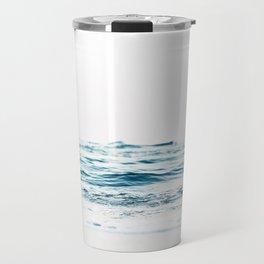 Water, Sea, Ocean, Water, Blue, Nature, Modern art, Art, Minimal, Wall art Travel Mug
