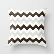 Chevron Makes Me Happy Throw Pillow