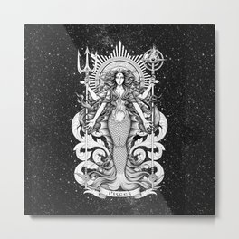 Pisces (dark apparel colour) Metal Print
