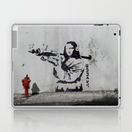 mona lisa - banksy Laptop & iPad Skin