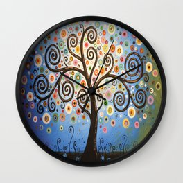 Abstract Art Landscape Original Painting ... Twilight Dreams Wall Clock