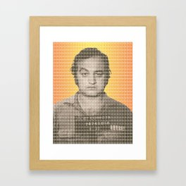 Jake Blues Mug Shot Framed Art Print