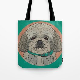 Icons of the Dog Park: Shih Tzu Design in Bold Colors for Pet Lovers Art Print Tote Bag
