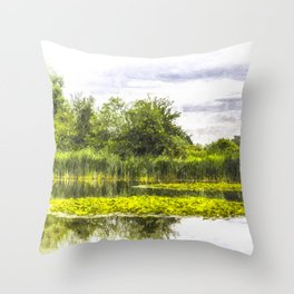 The Lily Pond Art Throw Pillow