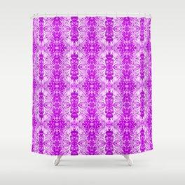 Purple Fracture II Shower Curtain