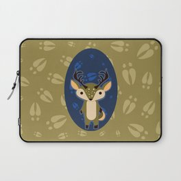 Deer with Hoof Prints Laptop Sleeve